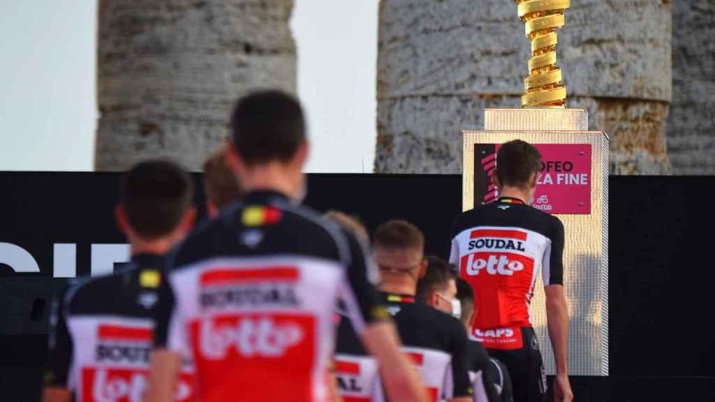 El Lotto Soudal en la presentación del Giro