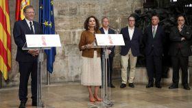Ximo Puig, en un acto en Valencia junto a la ministra María Jesús Montero.