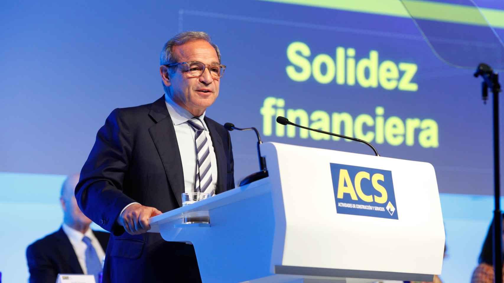 El consejero delegado de ACS y Hochtief, Marcelino Ferández Verdes.