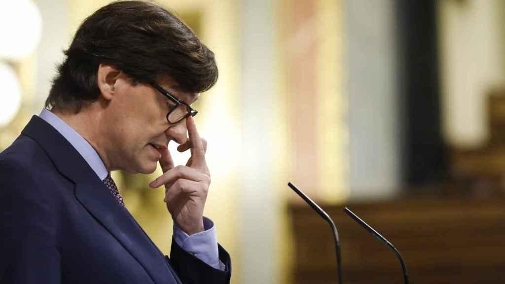 Salvador Illa, ministro de Sanidad, en el Congreso de los Diputados.