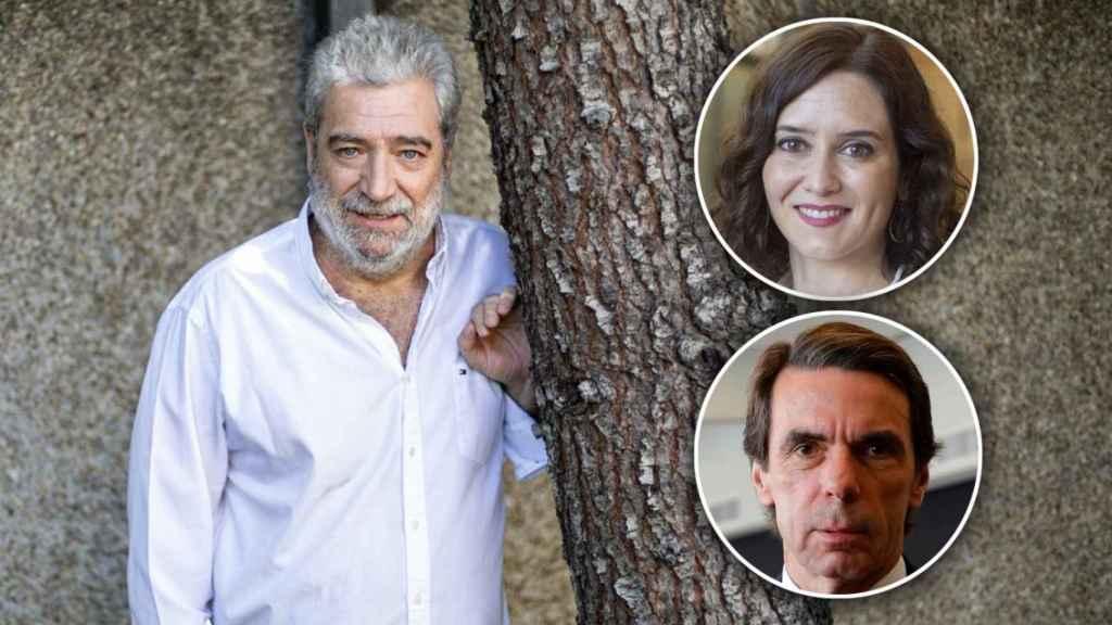 Miguel Ángel Rodríguez, Isabel Díaz Ayuso y José María Aznar.