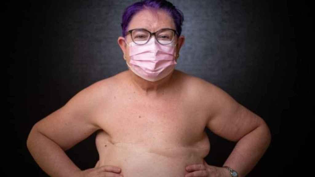 Alicia, enferma de cáncer.