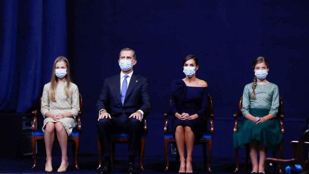 La Familia Real, durante la entrega de los Premios Princesa de Asturias.
