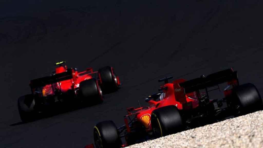 Carlos Sainz Jr. tuvo su primer día de trabajo en Ferrari