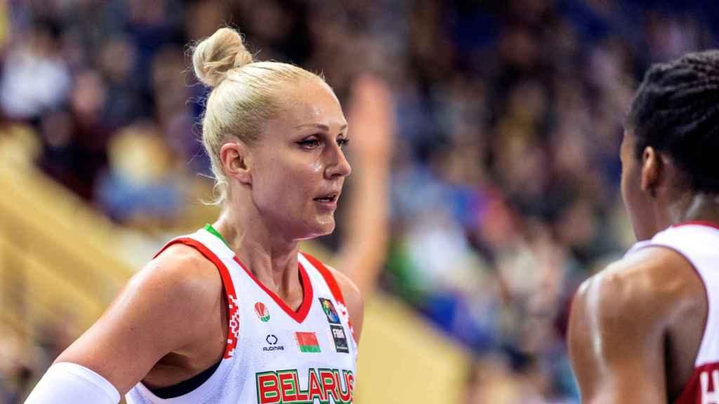 Yelena Levchenkoen un partido con su selección