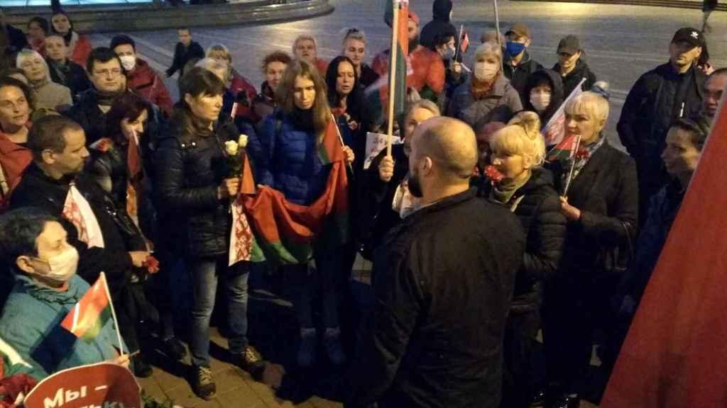 Movilización en favor de Lukashenko en Minsk
