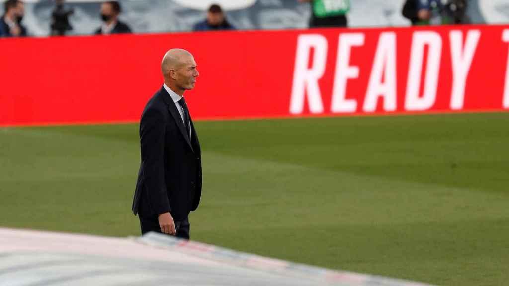 Zinedine Zidane, durante el Real Madrid - Cádiz