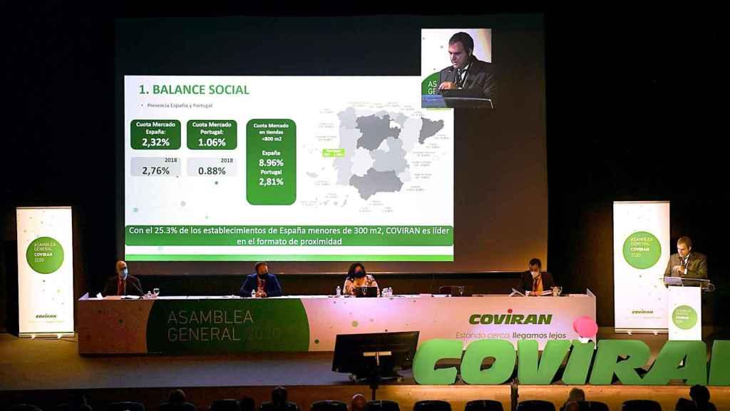 Asamblea general de Covirán en 2020.