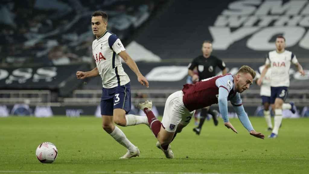 Sergio Reguilón, en el Tottenham Hotspur - West Ham United