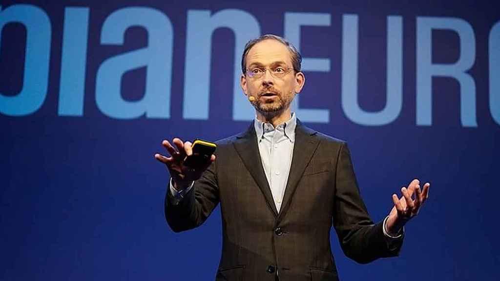 El CEO mundial de Appian, Matt Calkins, durante su intervención en el gran evento europeo de la compañía celebrado esta semana.