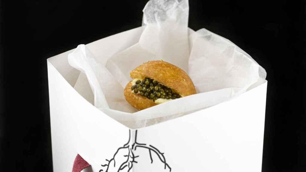 Brioche con caviar, un clásico de El Rincón de Juan Carlos
