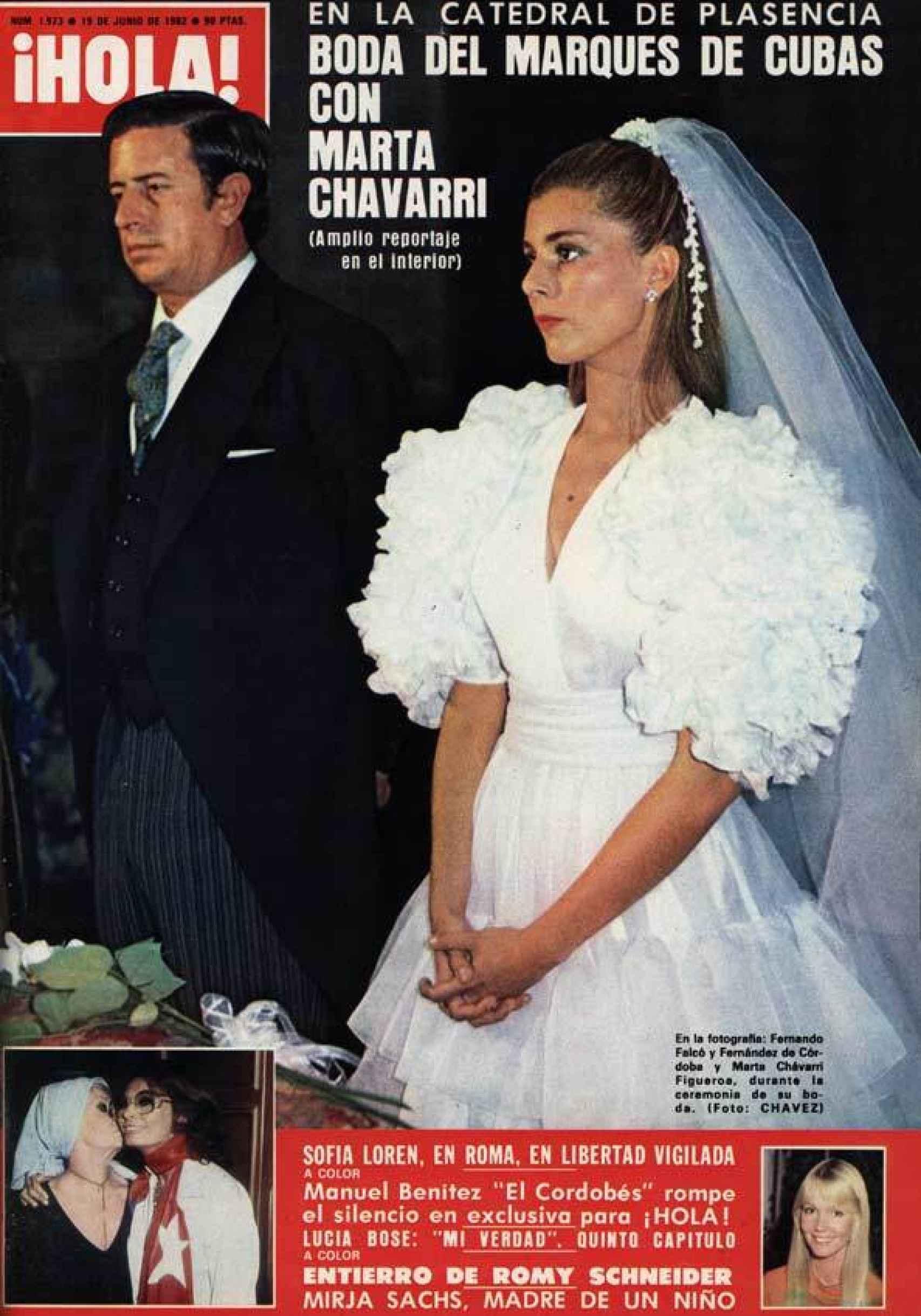 La boda de Fernando Falcó y Marta Chávarri fue una de las portadas de '¡HOLA!' más vendidas.