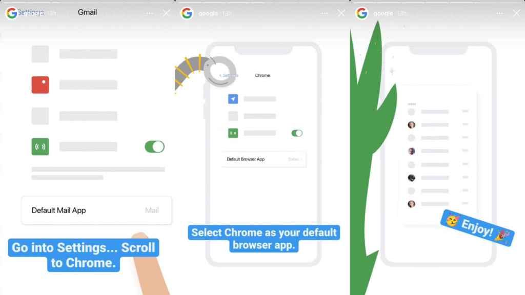 Apple permite poner otros navegadores como Chrome por defecto