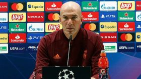 Zidane, en rueda de prensa en la Champions League