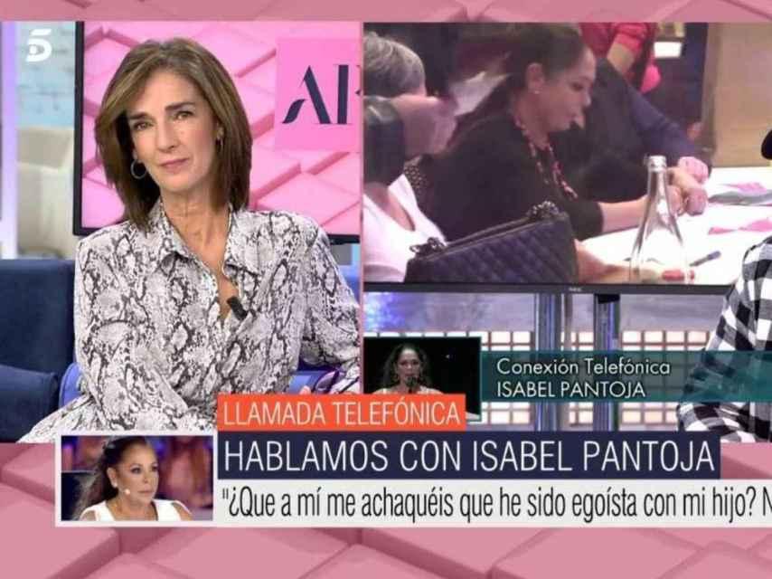 Tras las palabras de García Pelayo, Isabel Pantoja ha llamado en directo a 'El programa de Ana Rosa'.