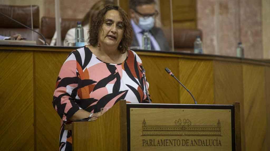 La portavoz adjunta de Adelante Andalucía, Ángela Aguilera.