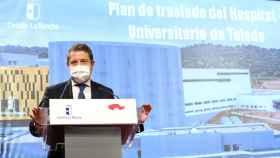 Emiliano García-Page, este martes en el Palacio de Fuensalida. Fotos: Ó. HUERTAS.