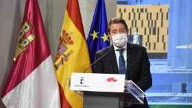 El presidente de Castilla-La Mancha, Emiliano García-Page, este martes en Toledo