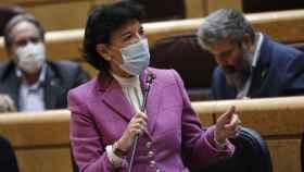 La ministra de Educación y Formación Profesional, Isabel Celaá, este martes en el Senado.
