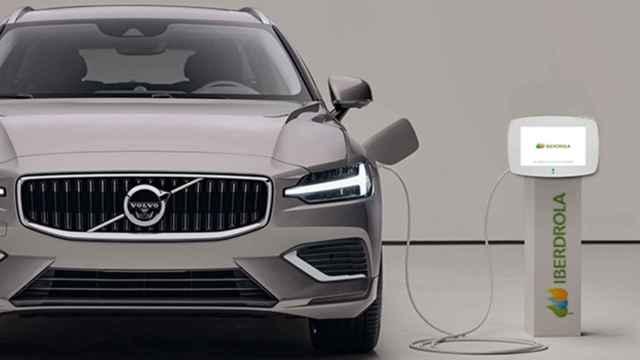 Imagen de un Volvo electrificado.