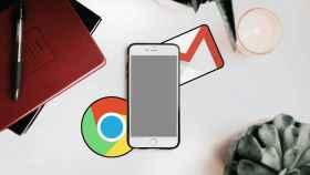 Un iPhone con las apps de Google.