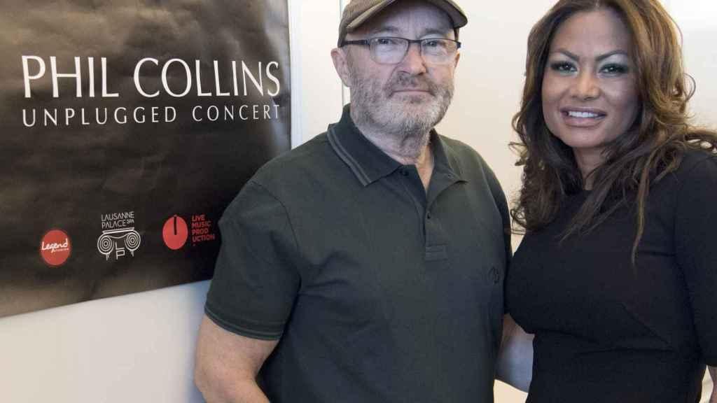 Phil Collins y Orianne Cevey en mayo del año 2016.