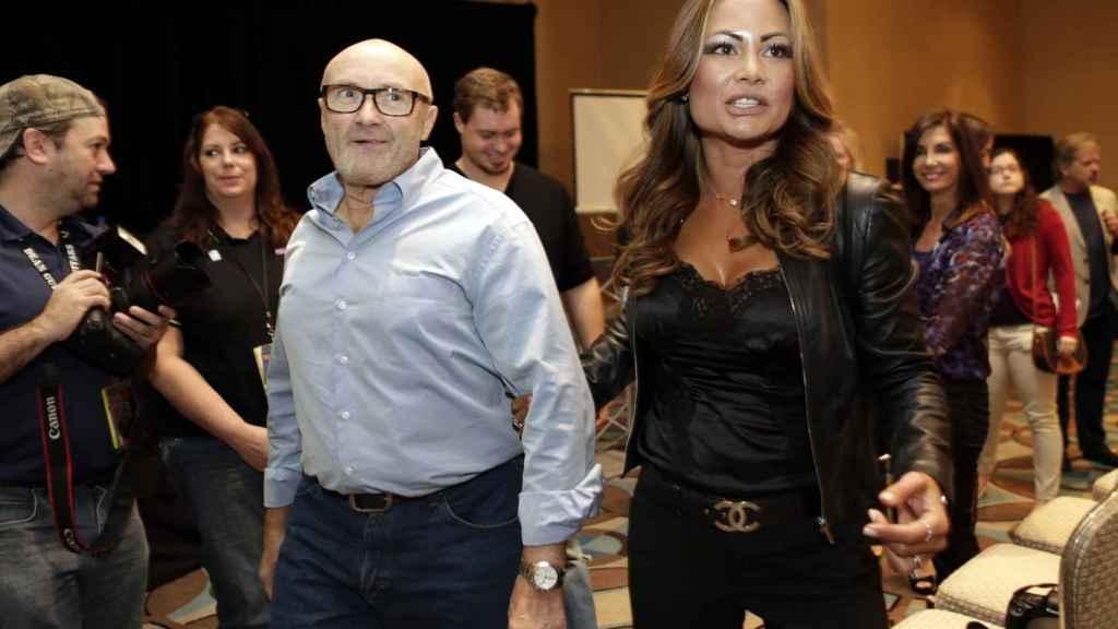 Phill Collins y su exmujer Orianne Cevey.