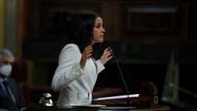 La presidenta de Cs, Inés Arrimadas, interviene durante la moción de censura de Vox.