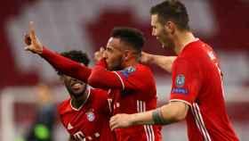 Tolisso celebra su gol con el Bayern