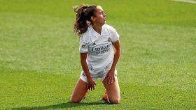 Maite Oroz, en un partido del Real Madrid Femenino