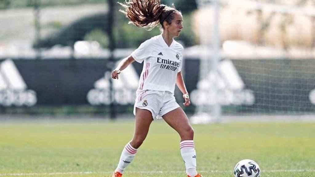 Maite Oroz, en un partido del Real Madrid Femenino. Foto: Instagram (@maitetxuu_10)