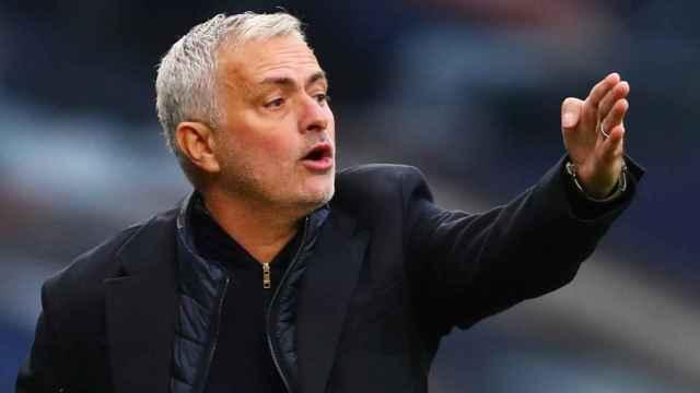 José Mourinho, en un partido del Tottenham