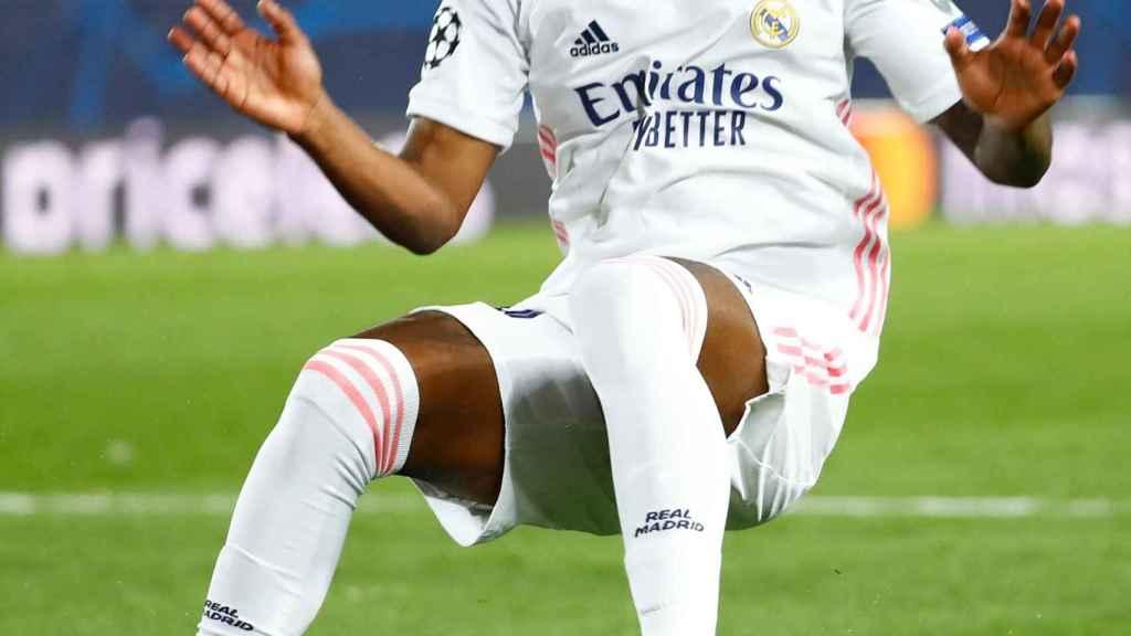 Vinicius, en un partido del Real Madrid de la Champions League 2020/2021