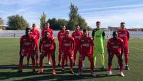 Once inicial del Almagro en el último partido. Foto: Almagro CF