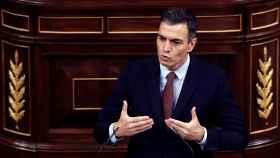 Pedro Sánchez responde a Santiago Abascal en la moción de censura.