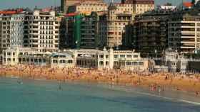 Imagen de la playa de La Concha en San Sebastián.