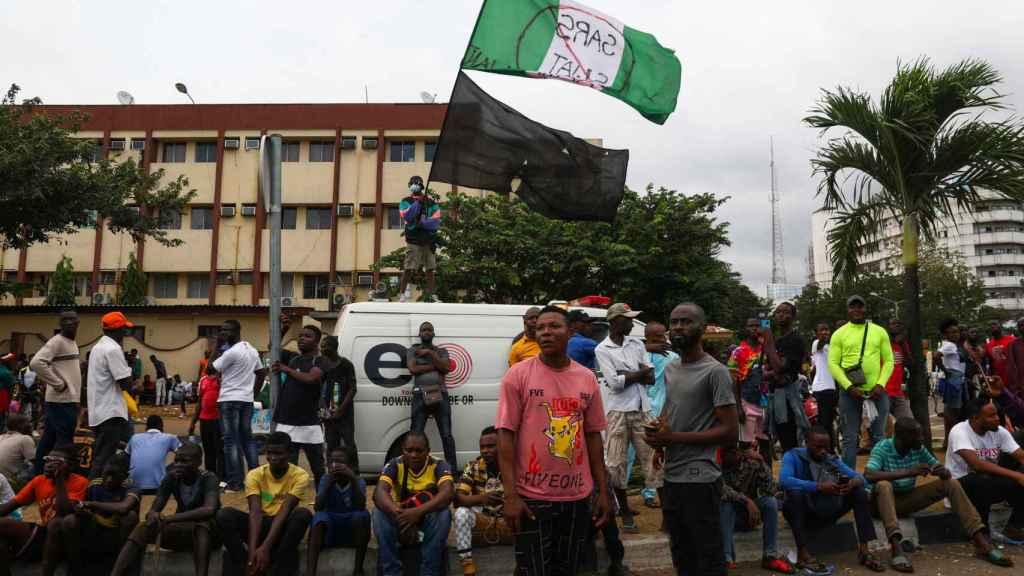 Disturbios en la ciudad de Lagos.