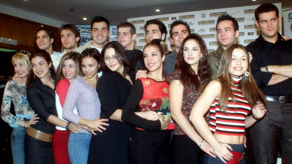 Los participantes de la primera edición de 'Operación Triunfo' en la presentación de la gira.
