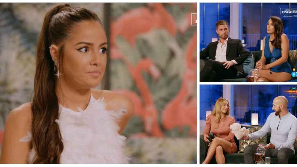 Melyssa Pinto junto a Tom y Sandra, Pablo y Mayka en montaje de JALEOS.