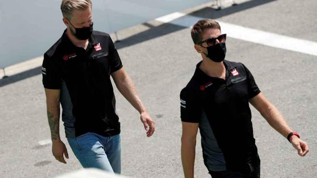 Grosjean y Magnussen, con Haas F1