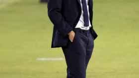 Zinedine Zidane, durante un partido de la temporada 2020/2021 del Real Madrid