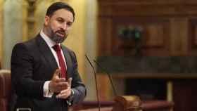 Santiago Abascal, este miércoles en el Congreso, en una imagen de Europa Press