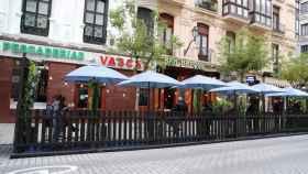 Una terraza en Bilbao.