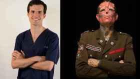 A la izquierda, el doctor Jesús Olivas-Menayo; a la derecha, Red Skull