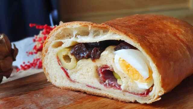 Pan de jamón y huevo