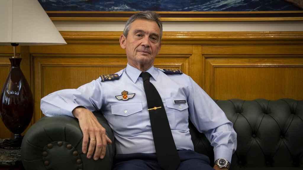 El Jefe del Estado Mayor de la Defensa, el general del Aire Miguel Ángel Villarroya.