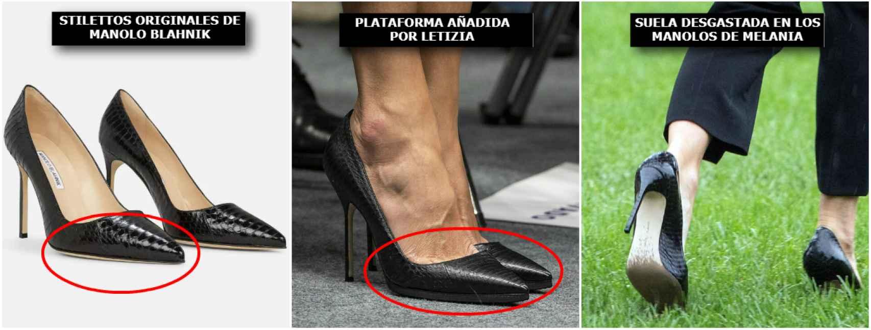 La reina Letizia adapta sus zapatos de tacón para que siempre luzcan impecables y ella pueda ir más cómoda.