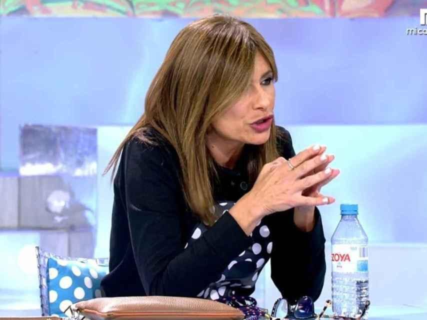 Gema López colaborando en 'Sálvame'.