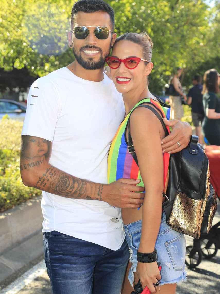 Ezequiel Garay y Tamara Gorro, en la Madrid Pride Parade 2019.
