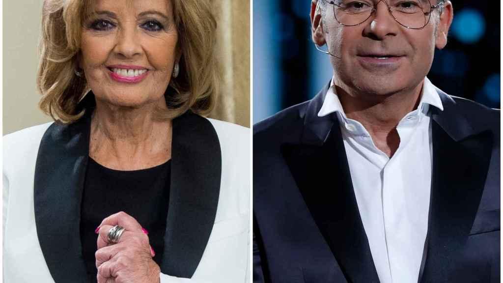 María Teresa Campos y Jorge Javier Vázquez  en un fotomontaje de 'Jaleos'.